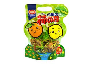 亀田の柿の種 みかん風味&レモン風味